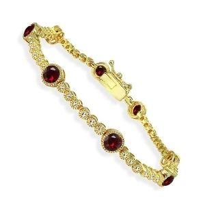 pulsera de rubies y oro