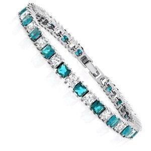 pulsera de zirconia y diamantes