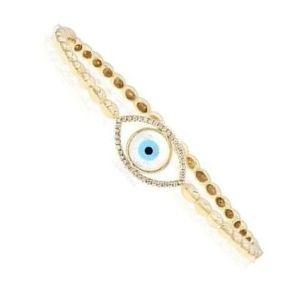pulsera ojo turco y oro