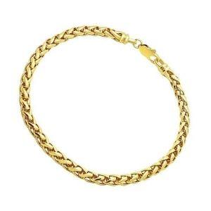 pulsera espiga de trigo de oro