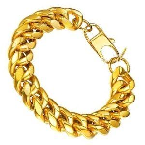 pulsera de oro amarillo cubana