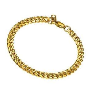 pulsera de oro amarillo para hombre