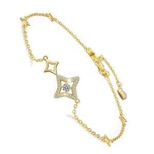 pulsera de oro amarillo y brillante para mujer