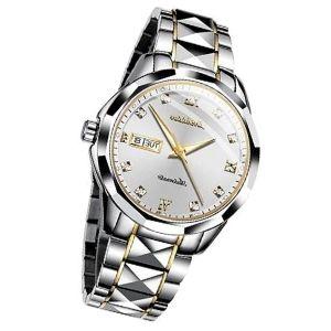 reloj automatico de oro blanco