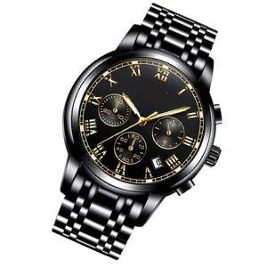 reloj cronógrafo negro