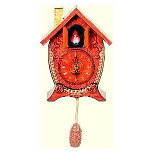 reloj cucu de pared color rojo