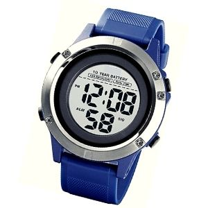 reloj electronico azul