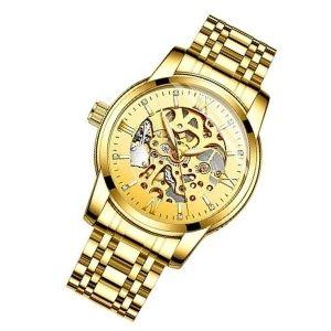 reloj de oro amarillo para hombre