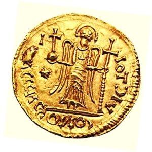 moneda de oro solido bizantino