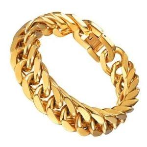 tobillera de eslabones cubanos de oro