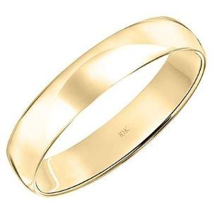 anillo de boda para mujer, de oro amarillo de 10 k