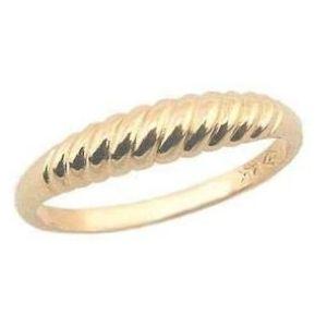 anillo para niña, de oro amarillo de 14 k