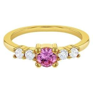 anillo para niña, chapado en oro amarillo de 18 k, con brillantes de cristal