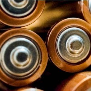 bateria de detector de metales