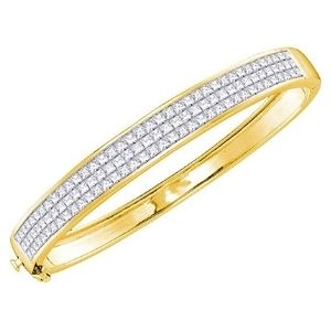 brazalete para mujer, de oro amarillo de 14 k, con diamantes