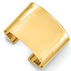 brazalete tipo cuff para hombre, de oro amarillo macizo de 14 k