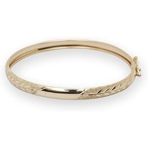 brazalete tipo bangle para ni帽a, de oro amarillo macizo de 10 k, flexible