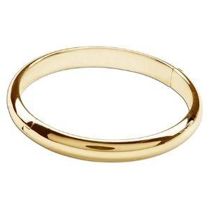 brazalete tipo bangle para ni帽os, chapado en oro amarillo de 14 k, con cierre de seguridad