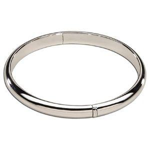 brazalete tipo bangle para ni帽os, chapado en oro blanco de 14 k, con cierre de seguridad