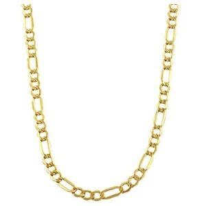 cadena figaro para hombre, de oro amarillo de 10 k