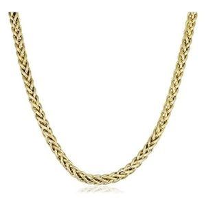 cadena figaro para hombre y mujer, de oro amarillo de 14 k