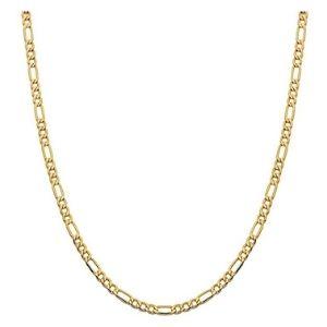 cadena figaro para hombre, de oro amarillo de 14 k