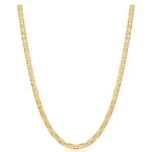 cadena tipo ancla para hombre y mujer, de oro amarillo de 18 k