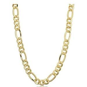 cadena tipo figaro para hombre, de oro amarillo macizo de 14 k
