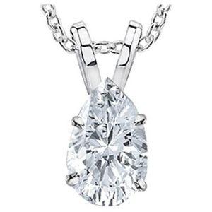 collar para mujer, de oro blanco de 18 k, con colgante de diamante