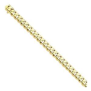 cadena de eslabones redondeados para mujer, de oro amarillo solido de 14 k