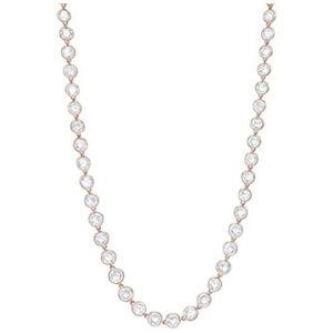 cadena para mujer, de oro rosa macizo de 18 k, con diamantes