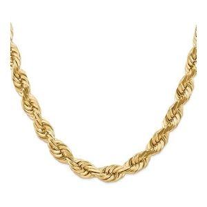 cadena tipo cuerda para hombre y mujer, de oro amarillo de 14 k