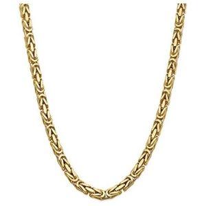 cadena bizantina para hombre y mujer, de oro amarillo de 14 k