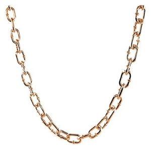 cadena de eslabones ovalados para hombre y mujer, de oro amarillo solido de 18 k
