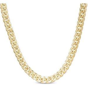 cadena de eslabones cubanos de miami para hombre, de oro amarillo de 10 k