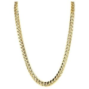 cadena cubana para hombre, de oro amarillo de 14 k