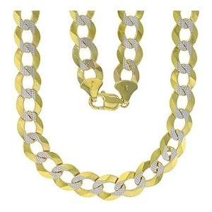cadena de eslabones cubanos de miami para hombre y mujer, de oro amarillo macizo de 14 k con diamantes