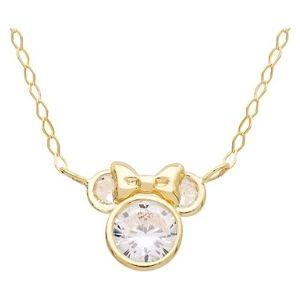 cadena oficial disney minnie mouse para niñas, de oro de 14 k