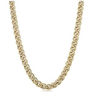 cadena para hombre, de oro amarillo de 14 k, de doble eslabon