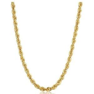 cadena para hombre y mujer, de oro amarillo de 10 k tipo cuerda