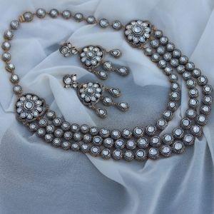 conjunto de collar + pendientes para mujer, de oro amarillo solido de 14 k con diamantes