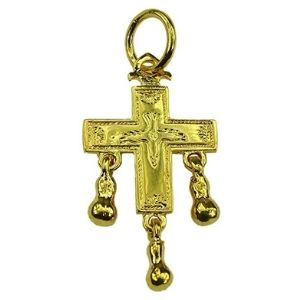 cruz reversible de beaufortain, de oro amarillo macizo de 18 k
