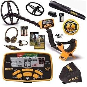 detector de metales impermeable, ajustable y de gran sensibilidad, garrett ace 400