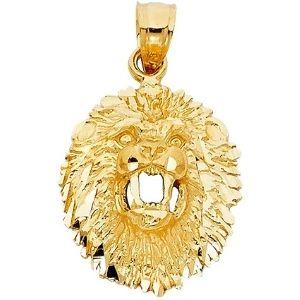 dije de leon para hombre, de oro amarillo de 14 k