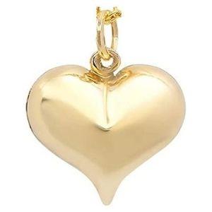 dije de corazon para mujer, de oro amarillo macizo de 14 k