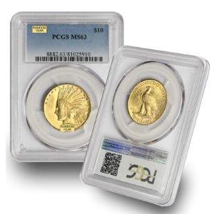moneda de oro cabeza de indio, de 10 dolares, año 1907 - 1933