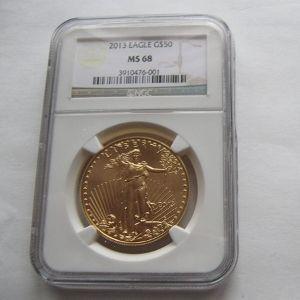 moneda aguila de oro americana de 50 dolares, año 2013