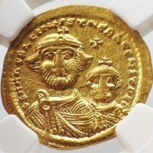 moneda de oro del imperio bizantino autentica sin circular