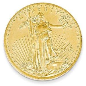 moneda americana aguila de oro amarillo macizo de 22 k, año 2012