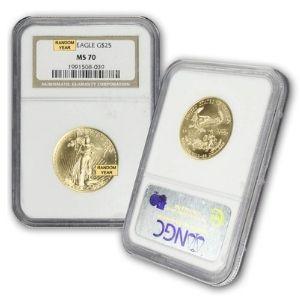 moneda aguila de oro americana, de 25 dolares, año 1986